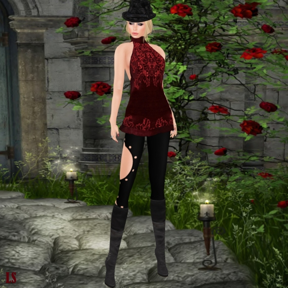 Gizza Ornament Velvet Dress_001