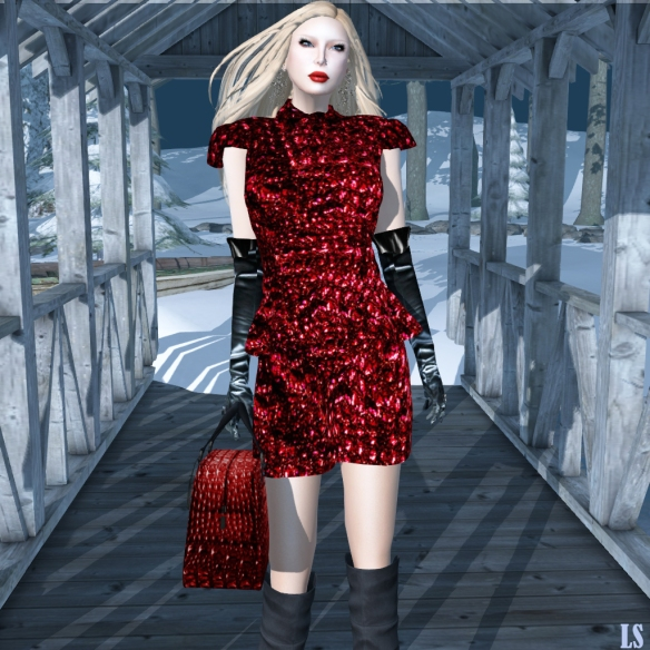 agy's secret Insolente Red Mesh Dress